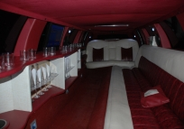 inside the limousine, in addition to lighting, night. For rent or services!